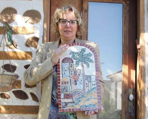 כנרת בוגרת סדנת פסיפס עם תמונה מהממת