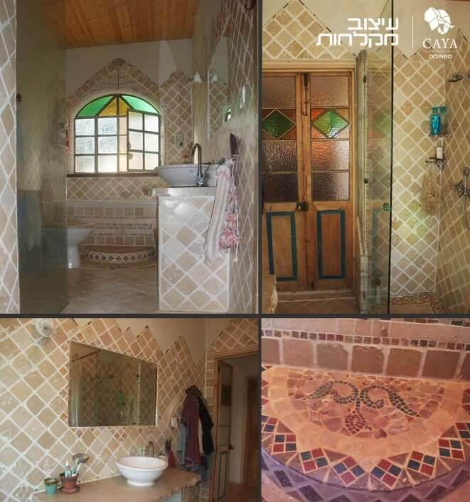 פסיפס לאמבטיה בעיצוב ייחודי