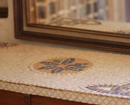 שולחן פסיפס מלבני